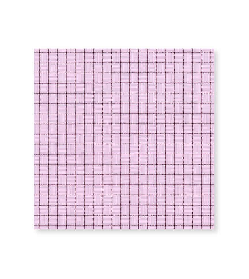 Lemonade and Carob Graph Pink Brown Check by Hemrajani Premium Collection Product Image