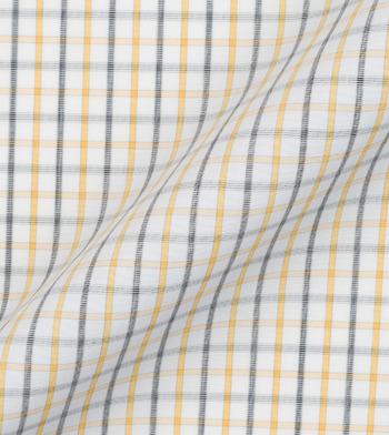 shirts cotton spring tattersall yellow black check