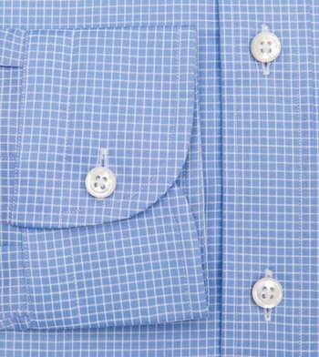 shirts cotton skyline graph light blue white check