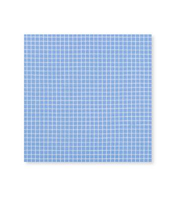 Skyline Graph Light Blue White Check by Hemrajani Premium Collection Product Image