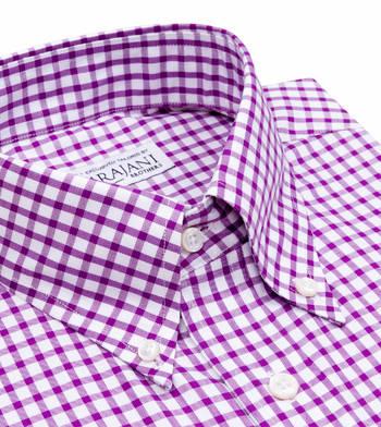 shirts cotton true purple and white purple check