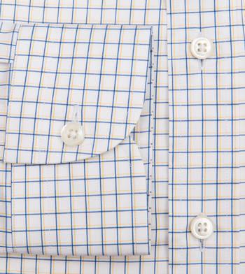 shirts cotton goldenrod azure offset graph blue gold check