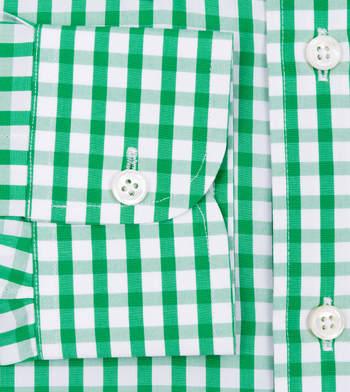 custom tailored shirts emerald gingham