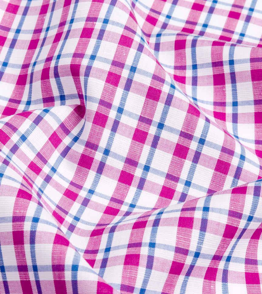 Purple and Blue Purple Blue Plaid by Hemrajani Premium Collection Product Image