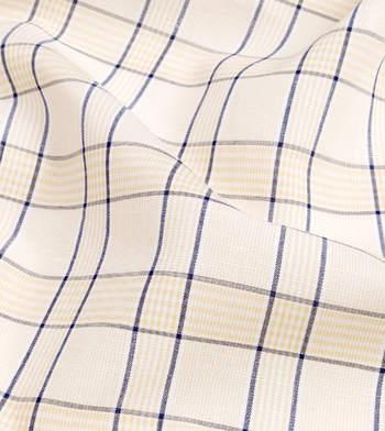 shirts linen and blends tan and navy tan navy plaid
