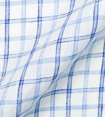 shirts linen and blends blue border tattersall blue light blue check