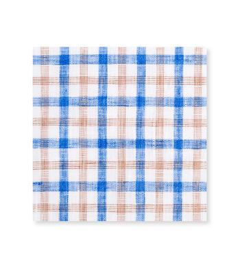Seashore Tattersall Blue Tan Check by Hemrajani Premium Collection Product Image