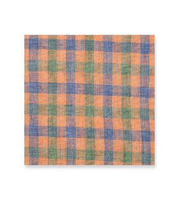 Orange and Blue Orange Blue Check by Hemrajani Premium Collection Product Image