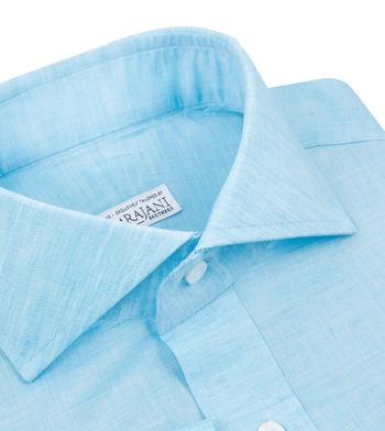 shirts linen and blends aqua aqua solids