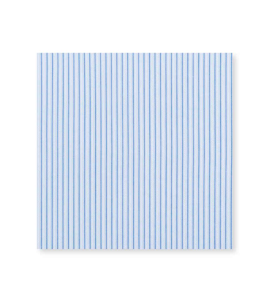 Baby Blue Woven Micro-Stripe Light Blue Blue Striped by Thomas Mason Product Image