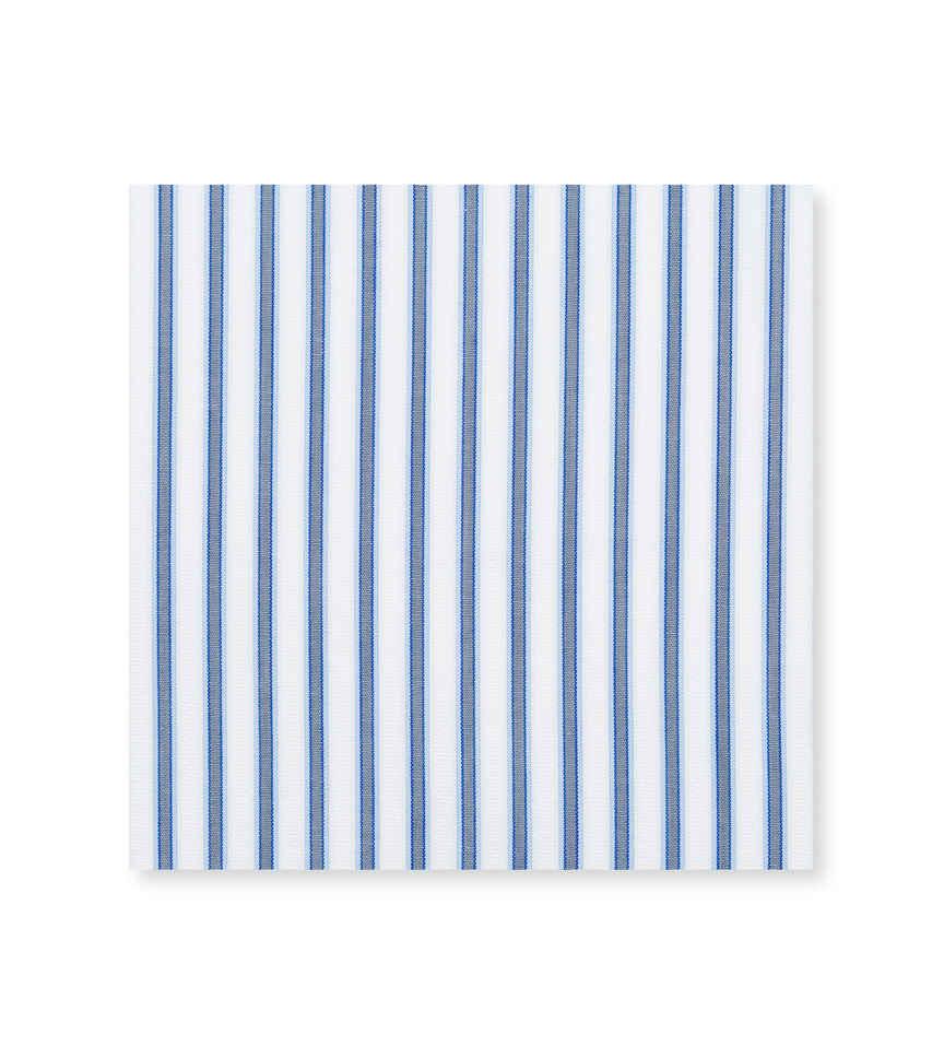 Blue Fog Grey Light Blue Striped by Thomas Mason Product Image