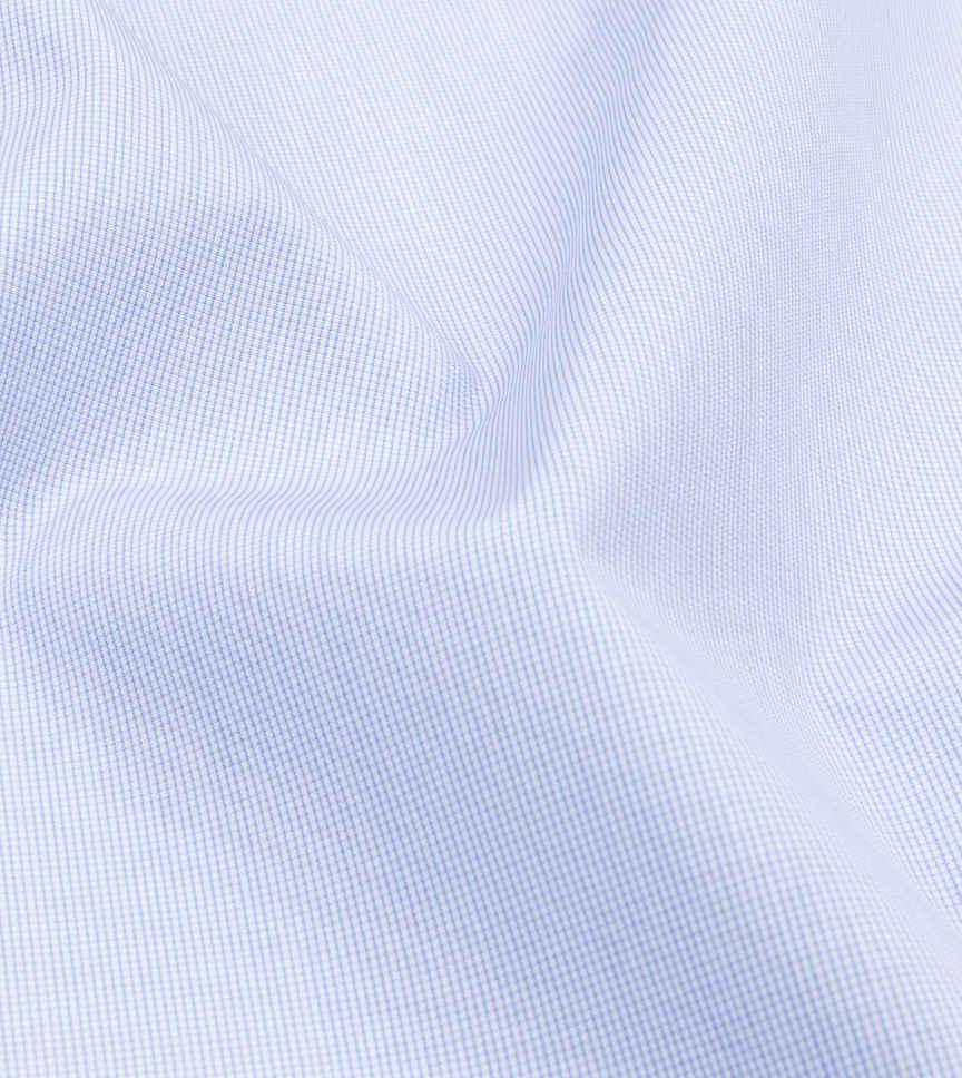 Baby Blue Poplin Light Blue White Check by Thomas Mason Product Image
