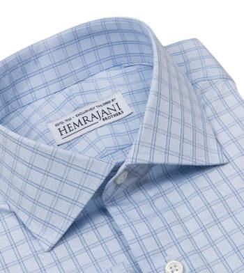 shirts cotton baby blue herringbone light blue blue check