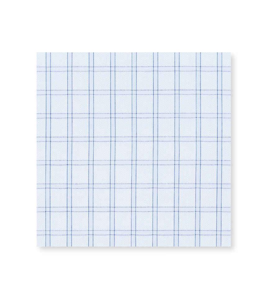 Baby Blue Herringbone Light Blue Blue Check by Thomas Mason Product Image