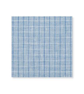 Blue Linen Graph Blue Check by Thomas Mason Product Image
