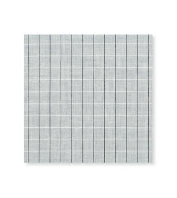 Grey Linen Graph Grey Black Check by Thomas Mason Product Image