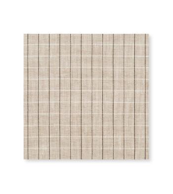 Tan Linen Graph Tan Black Check by Thomas Mason Product Image
