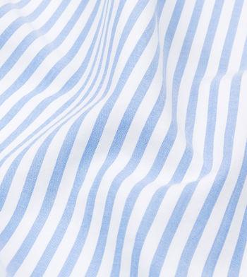 shirts cotton seersucker foggy dew blue stripes