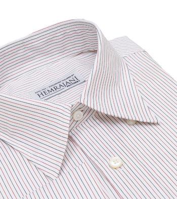 shirts cotton garnet and onyx pinstripe red black striped