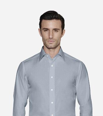 shirts pure cotton wrinkle free coastal cliff grey self design