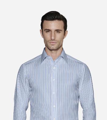 shirts pure cotton wrinkle free nautical blue and white stripe