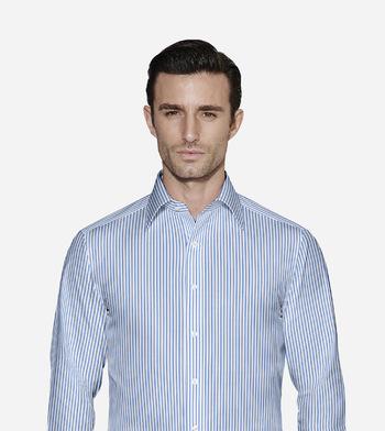shirts pure cotton wrinkle free stoneybrook blue and white stripe