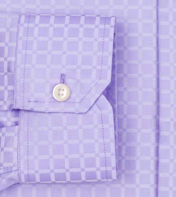 shirts pure cotton wrinkle free purple twill classic checks shirt