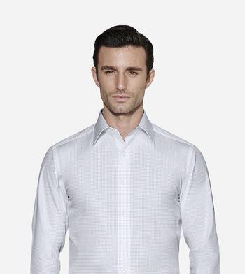 shirts pure cotton wrinkle free aqua blue twill check