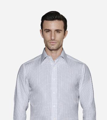 shirts pure cotton wrinkle free deep atlantic check