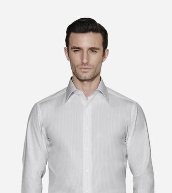 shirts cottons blue striped poplin white