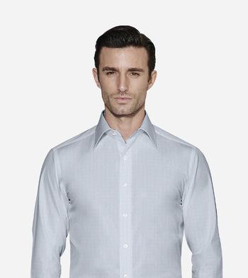 shirts cottons blue striped poplin light