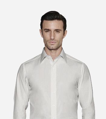 shirts cottons navy stripes poplin