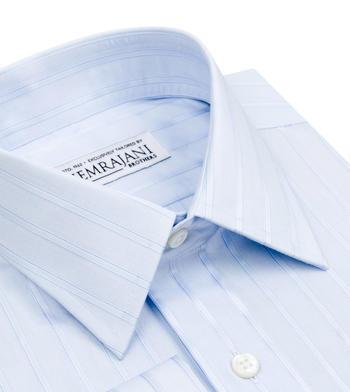shirts cottons blue patterned stripes light