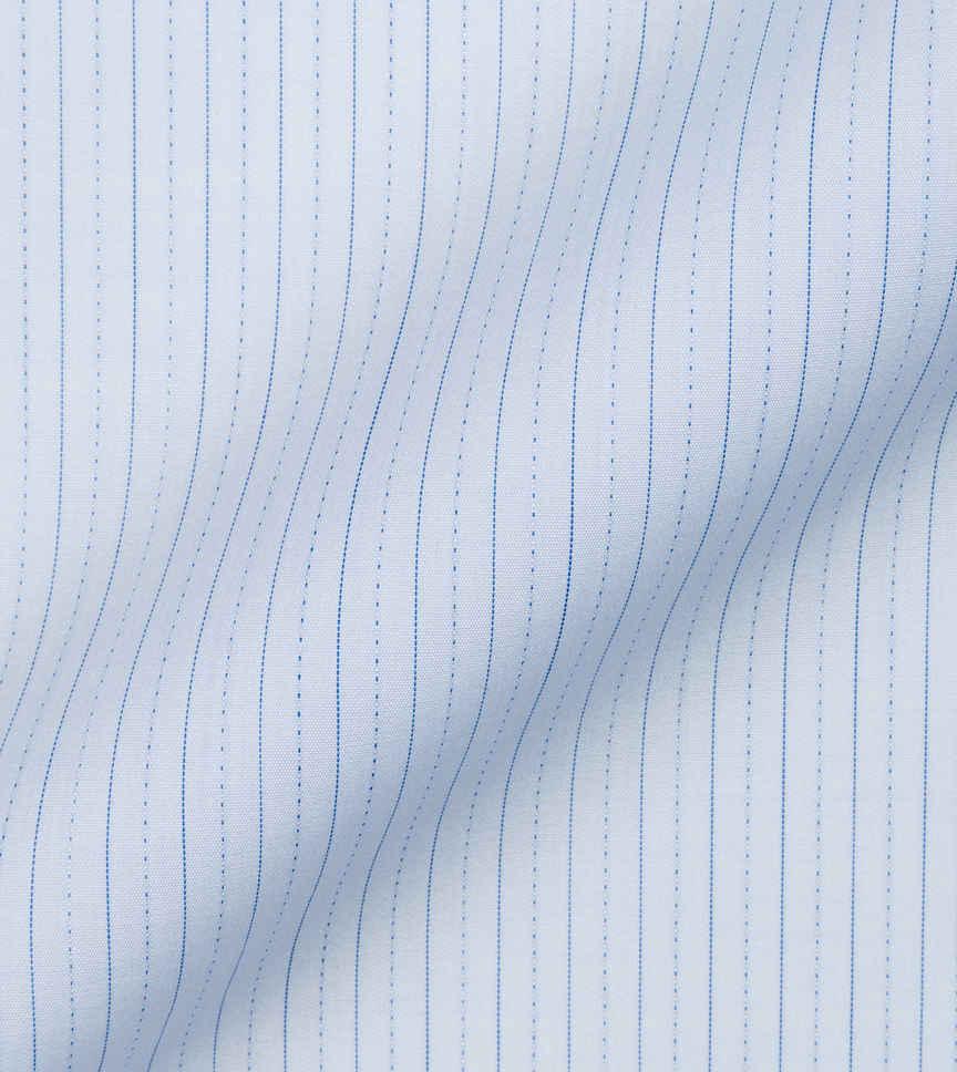 Blue stripes on Poplin by Alumo Product Image