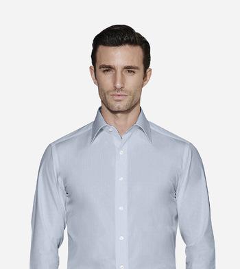 shirts cottons blue stripes on poplin