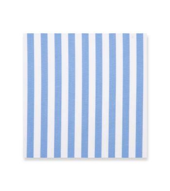 Light Blue Stripes on White Poplin by Alumo Product Image
