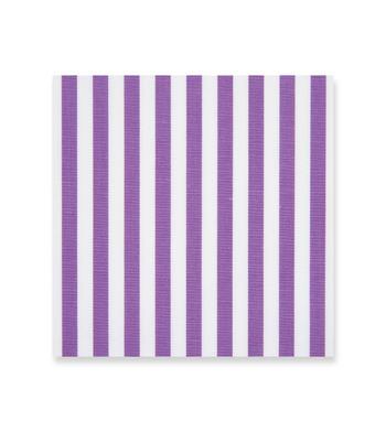 Purple stripes on white Poplin White by Alumo Product Image
