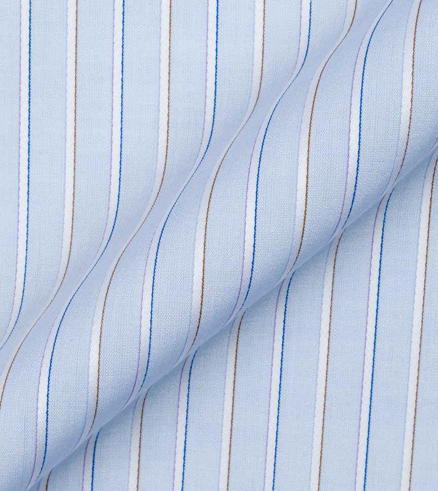 Blue Stripes Poplin Multicolor by Alumo Product Image