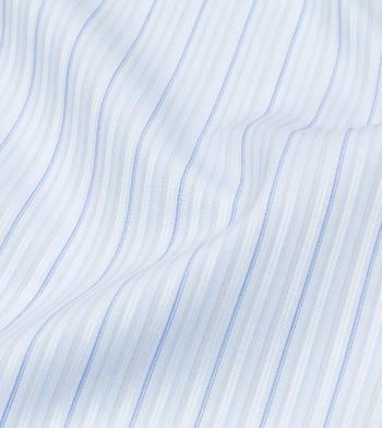 shirts cottons blue stipes poplin