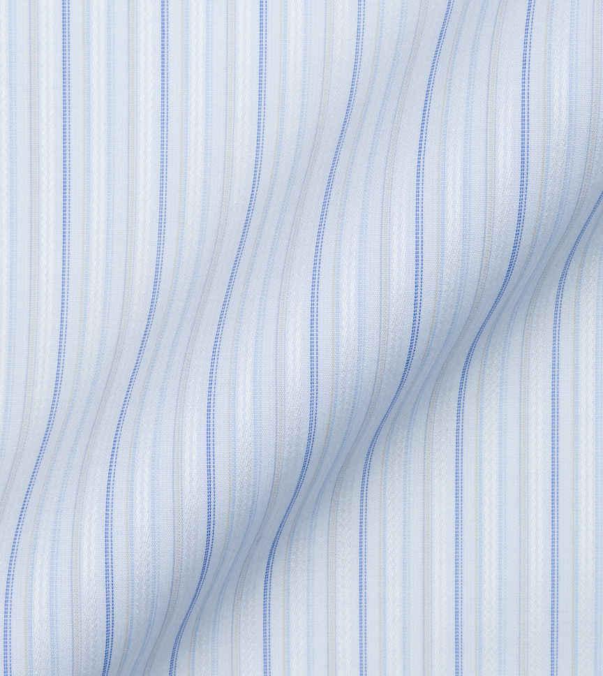 Blue Stipes Poplin by Alumo Product Image