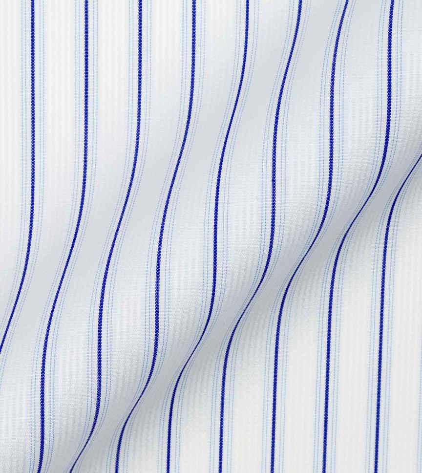 Navy Blue Stripes Poplin by Alumo Product Image