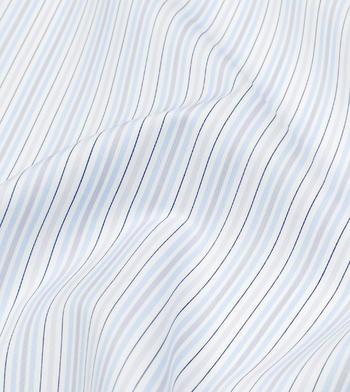 shirts cottons blue grey and black stripes poplin light