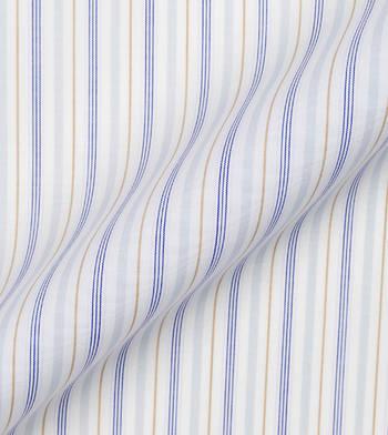 shirts cottons blue and tan stripes poplin 2 2621