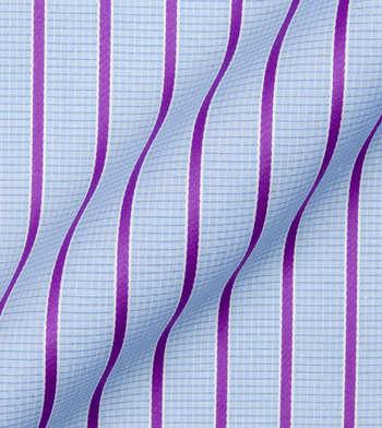 shirts cottons purple stripes on blue poplin light blue