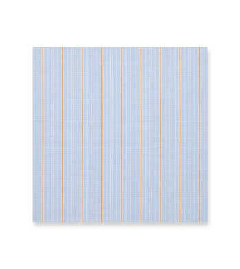 Light Blue and Orange stripes Poplin by Alumo Product Image