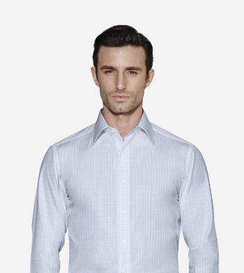 shirts cottons blue checks poplin light 1 2716
