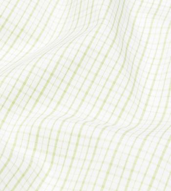 shirts cottons green checks poplin light