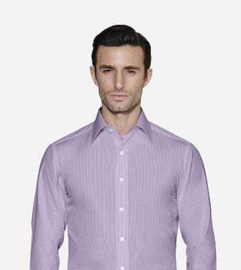 shirts cottons purple and blue checks poplin
