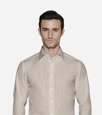 shirts cottons light green and purple checks green