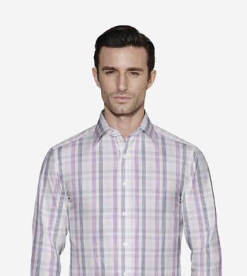 shirts cottons lavender and navy checks poplin navy 1 2845